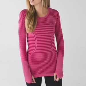 Lululemon Pink Stripe Swiftly Tech Long Sleeve 8